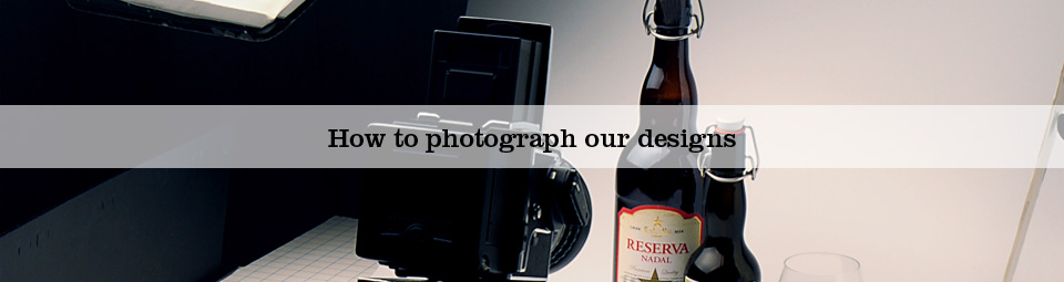 How to photograph our designs